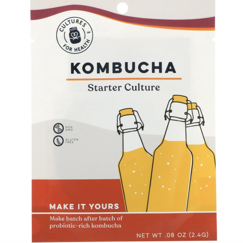 Cultures for Health, Kombucha, 1 Packet, 2.4 g, S$20.72. PHOTO: iHerb