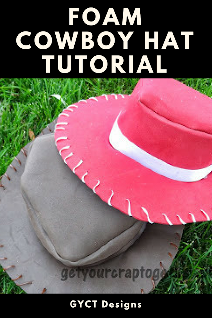 """<p>Want to test your hand at crafting your very own cowboy hat? This foam tutorial is so easy to follow! They're perfect for recreating Woody and Jessie looks from the <em>Toy Story </em>movies.</p><p><strong>Get the tutorial at <a href=""""https://www.sewsimplehome.com/2013/10/31-days-of-halloween-foam-cowboy-hat.html"""" rel=""""nofollow noopener"""" target=""""_blank"""" data-ylk=""""slk:Sew Simple Home"""" class=""""link rapid-noclick-resp"""">Sew Simple Home</a>.</strong></p><p><a class=""""link rapid-noclick-resp"""" href=""""https://go.redirectingat.com?id=74968X1596630&url=https%3A%2F%2Fwww.walmart.com%2Fip%2FPlain-EVA-Foam-Sheets-9-Inch-x-12-Inch-5-Piece-Red%2F682846321&sref=https%3A%2F%2Fwww.thepioneerwoman.com%2Fholidays-celebrations%2Fg33925966%2Fwestern-halloween-costumes%2F"""" rel=""""nofollow noopener"""" target=""""_blank"""" data-ylk=""""slk:SHOP RED FOAM SHEETS"""">SHOP RED FOAM SHEETS</a></p>"""
