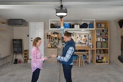 Chamberlain's new garage door openers will inspire tech savvy DIYers to get even more creative with how they use their garage space.