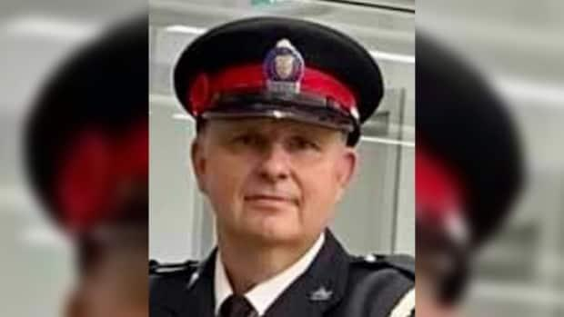 Const. Jeffrey Northrup was killed after being struck by a vehicle in the parking garage at city hall on Friday morning, police say.  (52 Division/Twitter - image credit)