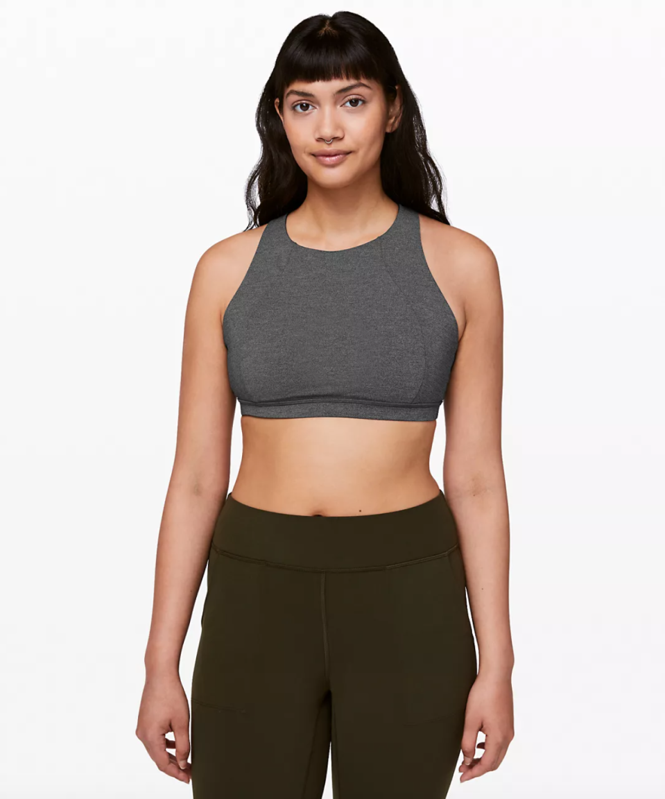 Free To Be Serene Bra High Neck. Image via Lululemon.