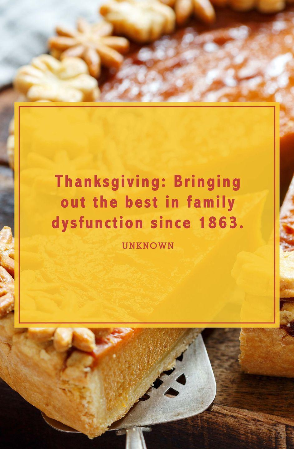 """<p>""""Thanksgiving: Bringing out the best in family dysfunction since 1863.""""</p>"""