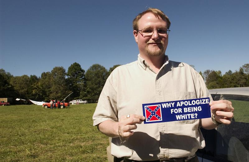 Billy Roper, chairman of an Arkansas-based white nationalist group. (David S. Holloway via Getty Images)