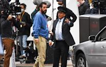 <p>Adam Sandler is seen filming his latest Netflix movie <em>Hustle</em> on Tuesday in Philadelphia.</p>