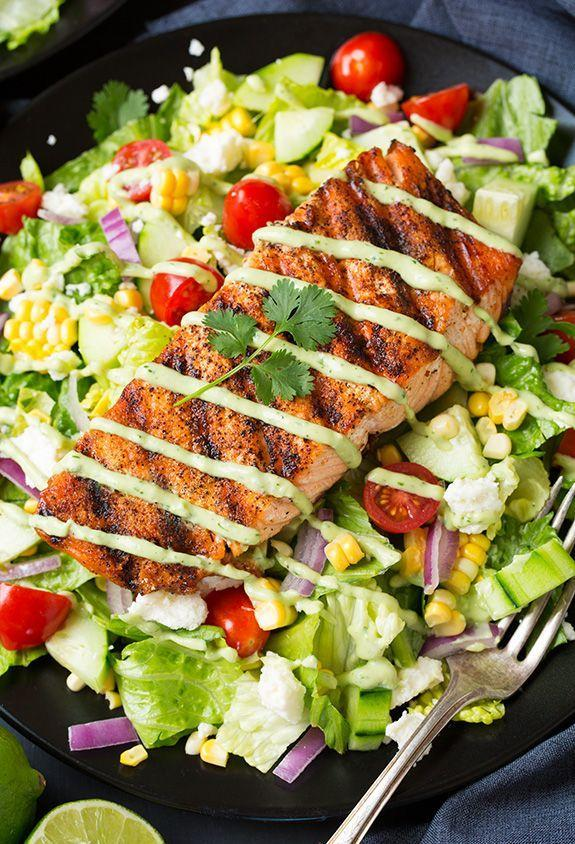 """<p>We're actually excited to eat salad and now we're SO confused.</p><p>Get the recipe from <a href=""""http://www.cookingclassy.com/2015/06/mexican-grilled-salmon-salad-with-avocado-greek-yogurt-ranch-dressing/"""" rel=""""nofollow noopener"""" target=""""_blank"""" data-ylk=""""slk:Cooking Classy"""" class=""""link rapid-noclick-resp"""">Cooking Classy</a>.</p>"""