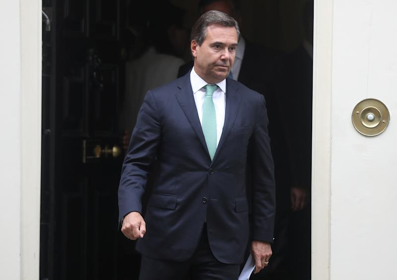 Antonio Horta-Osorio CEO of Lloyds Banking Group leaves Downing Street in London, Britain, September 2, 2019. REUTERS/Simon Dawson