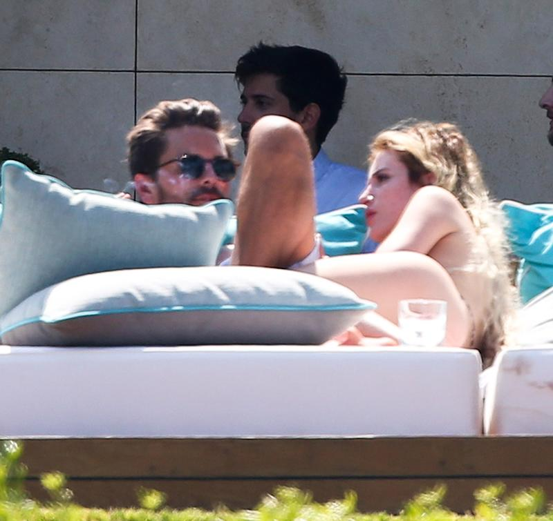 Scott Disick with Bella Throne in Cannes cuddling together.