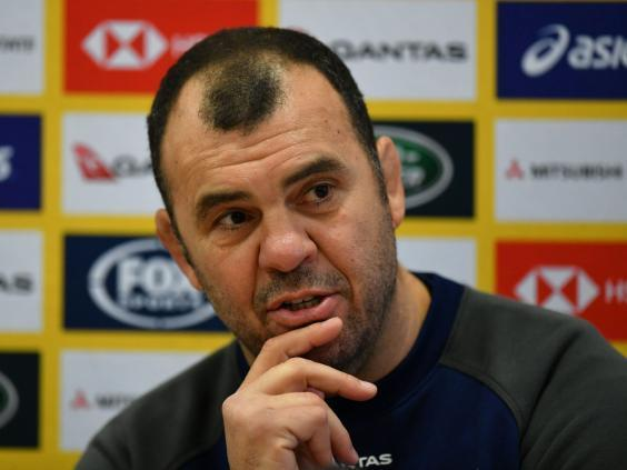Cheika has faced a difficult few months with Australia (Getty)