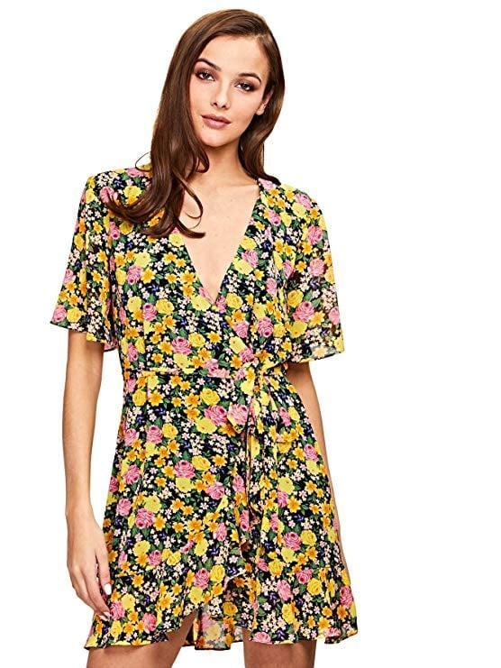 """<p>This <a href=""""https://www.popsugar.com/buy/Milumia-Floral-Wrap-Dress-550562?p_name=Milumia%20Floral%20Wrap%20Dress&retailer=amazon.com&pid=550562&price=18&evar1=fab%3Aus&evar9=47491166&evar98=https%3A%2F%2Fwww.popsugar.com%2Ffashion%2Fphoto-gallery%2F47491166%2Fimage%2F47491182%2FMilumia-Floral-Wrap-Dress&list1=amazon%2Cdresses%2Csummer%20fashion%2Cfashion%20shopping&prop13=mobile&pdata=1"""" class=""""link rapid-noclick-resp"""" rel=""""nofollow noopener"""" target=""""_blank"""" data-ylk=""""slk:Milumia Floral Wrap Dress"""">Milumia Floral Wrap Dress</a> ($18) comes in tons of different patterns.</p>"""