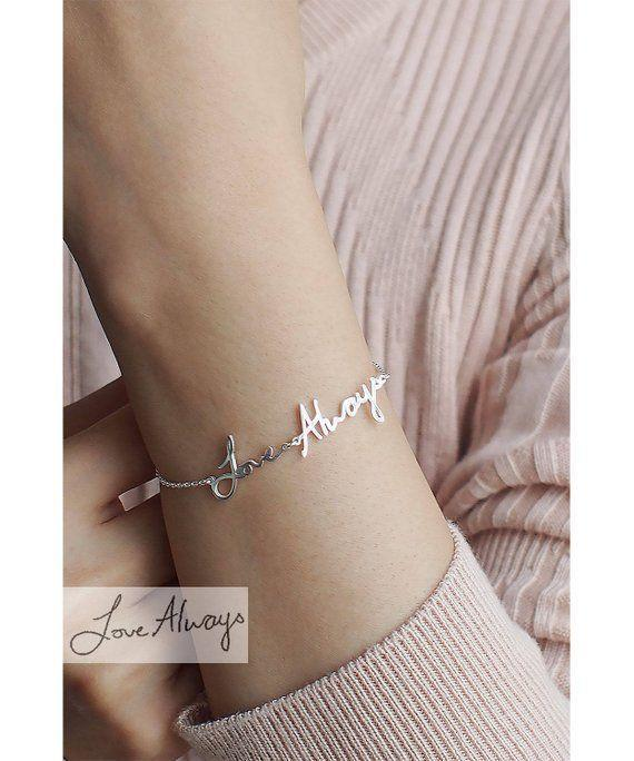 """<p><strong>IMESILVER</strong></p><p>etsy.com</p><p><strong>$28.00</strong></p><p><a href=""""https://go.redirectingat.com?id=74968X1596630&url=https%3A%2F%2Fwww.etsy.com%2Flisting%2F249296281%2Fhandwriting-bracelet-hb16f&sref=https%3A%2F%2Fwww.goodhousekeeping.com%2Fholidays%2Fgift-ideas%2Fg4349%2Fgifts-for-college-graduates%2F"""" rel=""""nofollow noopener"""" target=""""_blank"""" data-ylk=""""slk:Shop Now"""" class=""""link rapid-noclick-resp"""">Shop Now</a></p><p>Jot down an inspiring message or inside joke that only your grad will appreciate, and IME Jewelry will turn it into a silver, gold or rose gold bracelet. </p><p><strong>RELATED: </strong><a href=""""https://www.goodhousekeeping.com/holidays/gift-ideas/g34388852/best-sentimental-gifts/"""" rel=""""nofollow noopener"""" target=""""_blank"""" data-ylk=""""slk:Sentimental Gift Ideas for Your Loved Ones"""" class=""""link rapid-noclick-resp"""">Sentimental Gift Ideas for Your Loved Ones</a></p>"""
