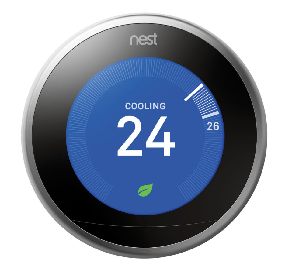 Google Nest Wi-Fi Smart Learning Thermostat 3rd Generation in Stainless Steel (Photo via Best Buy Canada)