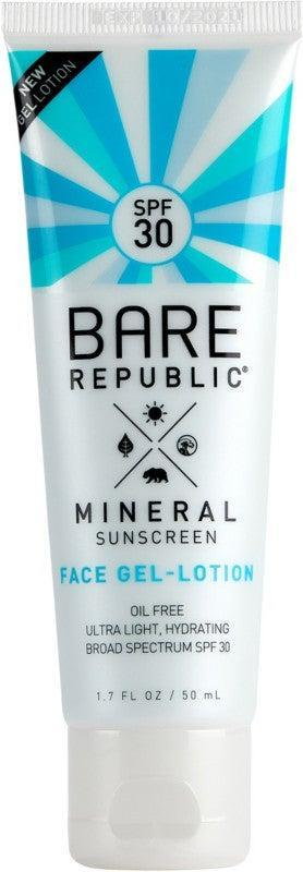 "<h2>Bare Republic Mineral Sunscreen Gel Lotion SPF 30</h2> <br><strong>Best: Gel Sunscreen</strong><br>This gel-formula sunscreen is not only revered for its eco-friendly ingredients and reef-safe pledge, but it's also a light-weight skin hydration star that goes on smooth leaving no traces of white-residue behind.<br><br><strong>The Hype:</strong> 4.3 out of 5 stars and 518 reviews on Ulta<br><br><strong>Reviewers Say:</strong> ""The best thing about this gel formula is that it's not at all sticky. I can wear it under makeup because it feels like nothing. The application has been super smooth due to the gel form. Literally no stickiness at all. I love that part the most. It's super lightweight too.""<br><br><strong>Deals: </strong>Currently <strong>buy one, get one 50% off </strong>at <strong><a href=""https://www.ulta.com/brand/bare-republic"" rel=""nofollow noopener"" target=""_blank"" data-ylk=""slk:Ulta"" class=""link rapid-noclick-resp"">Ulta</a></strong><br><br><strong>Bare Republic</strong> Mineral Face Sunscreen Gel Lotion SPF 30, $, available at <a href=""https://go.skimresources.com/?id=30283X879131&url=https%3A%2F%2Fwww.ulta.com%2Fmineral-face-sunscreen-gel-lotion-spf-30%3FproductId%3Dpimprod2013017"" rel=""nofollow noopener"" target=""_blank"" data-ylk=""slk:Ulta"" class=""link rapid-noclick-resp"">Ulta</a><br><br><br><br><br><br><br><br>"
