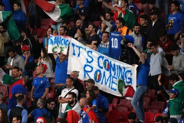 Football was going to Rome after Italy's final victory