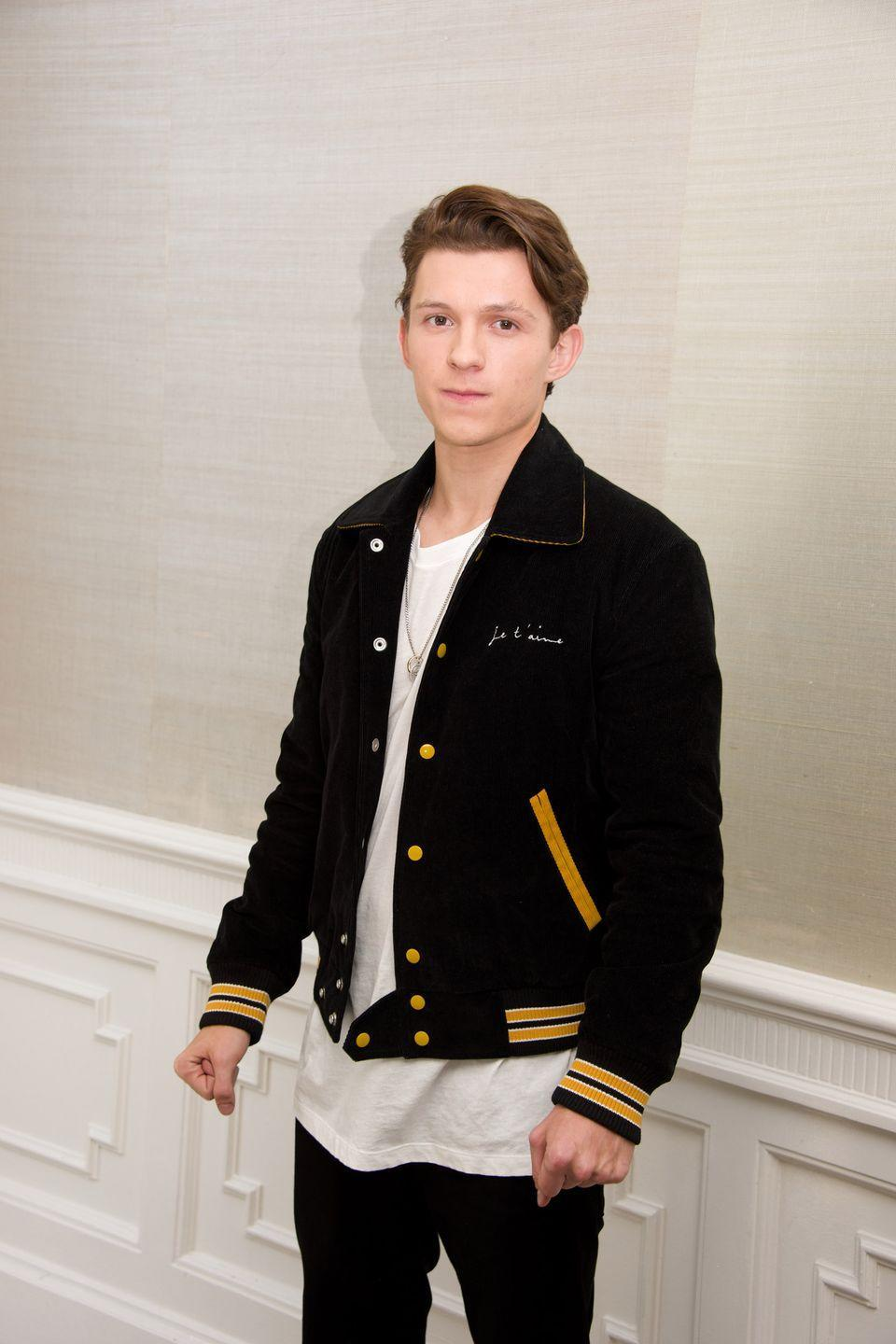 <p>Tom Holland at the <em>Spider-Man: Homecoming</em> Press Conference at the London Hotel on June 28, 2017 in West Hollywood, California.</p>
