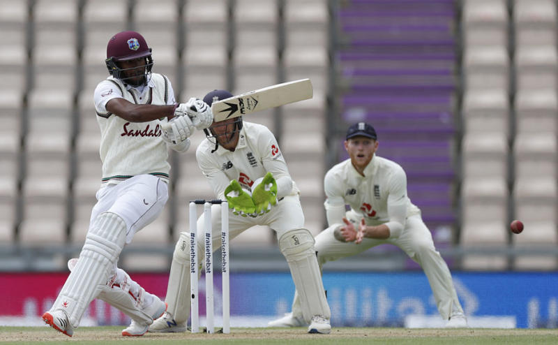 West Indies batted slightly better than England to score 318 in their first innings. It was possible courtesy of a fine knock by opening batsman Kraigg Brathwaite, who scored 65 off 125 balls. AP
