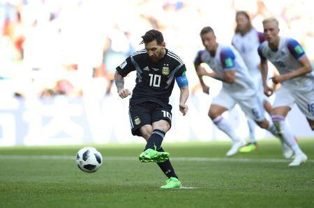 Argentina's Lionel Messi misses a penalty. REUTERS/Carl Recine/File Photo/File Photo