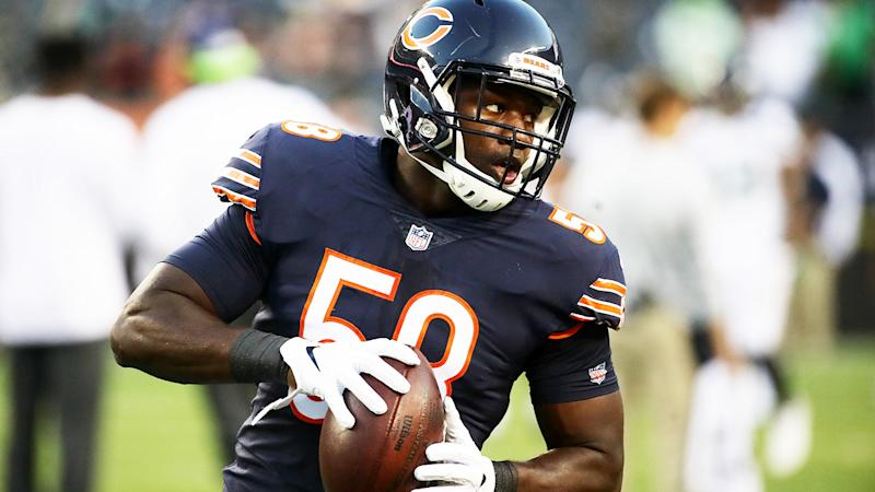 Roquan Smith, pictured here in action for the Chicago Bears in 2018.