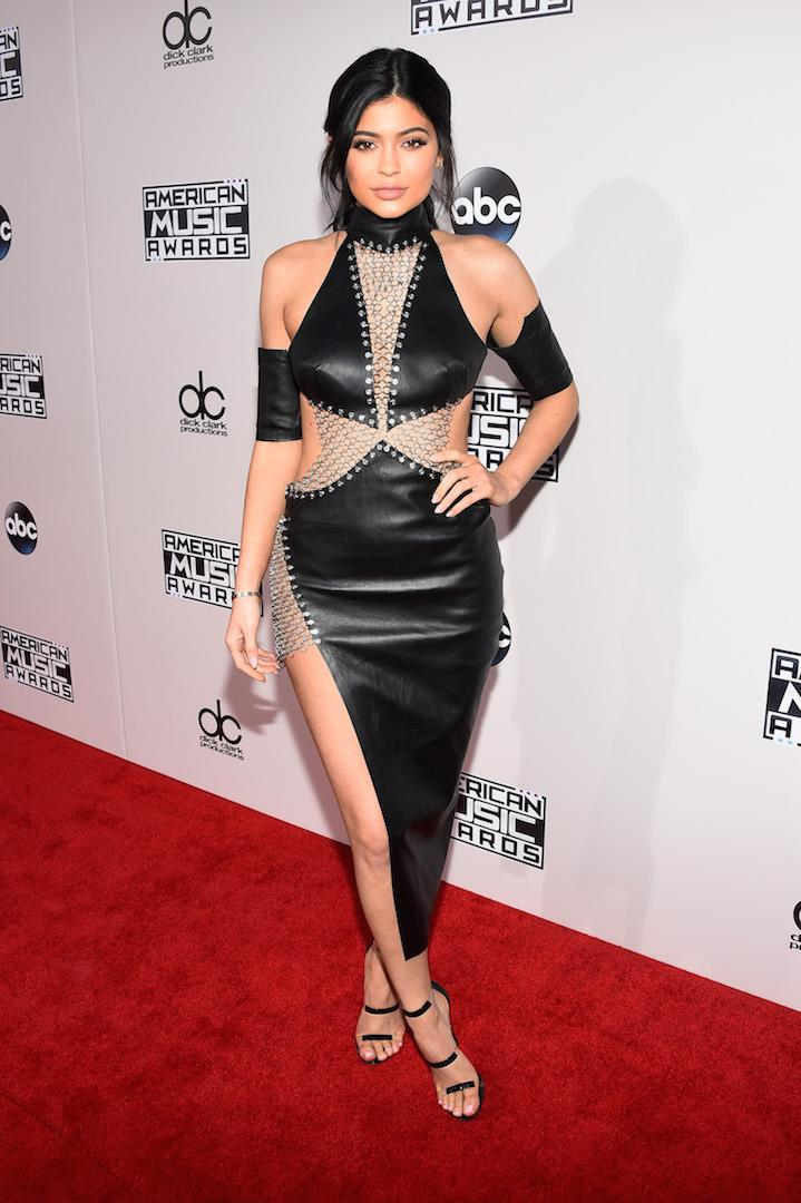 For the star-studded 2015 American Music Awards, the then 18-year-old chose a cut-out leather dress complete with an ultra high thigh split by Bryan Hearns. <em>[Photo: Getty]</em>