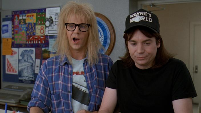 """I think I'm gonna hurl!"" Dana Carvey and Mike Myers in 'Wayne's World 2' (credit: Paramount)"