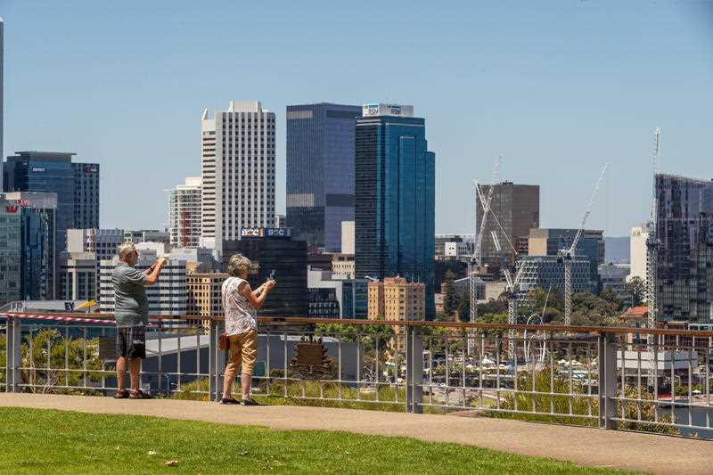 A general view of Perth city from Kings Park in Perth.