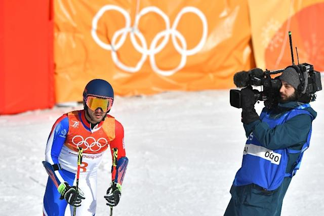 French alpine skier Mathieu Faivre, the partner of American ski star Mikaela Shiffrin, has been expelled from the Winter Olympics over angry comments made after a race at the weekend (AFP Photo/Fabrice COFFRINI)