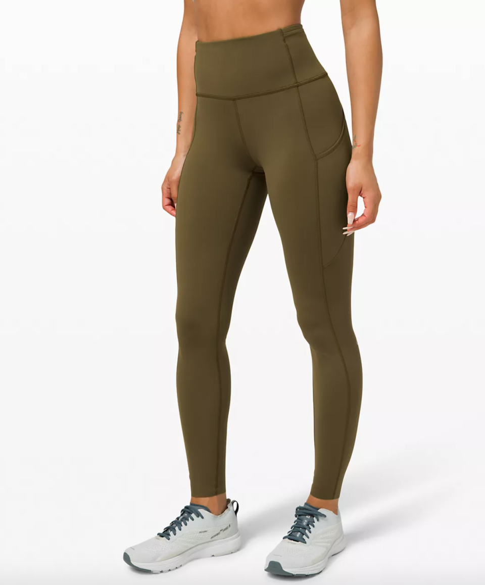 """Fast and Free High-Rise Tight 28"""". Image via Lululemon."""