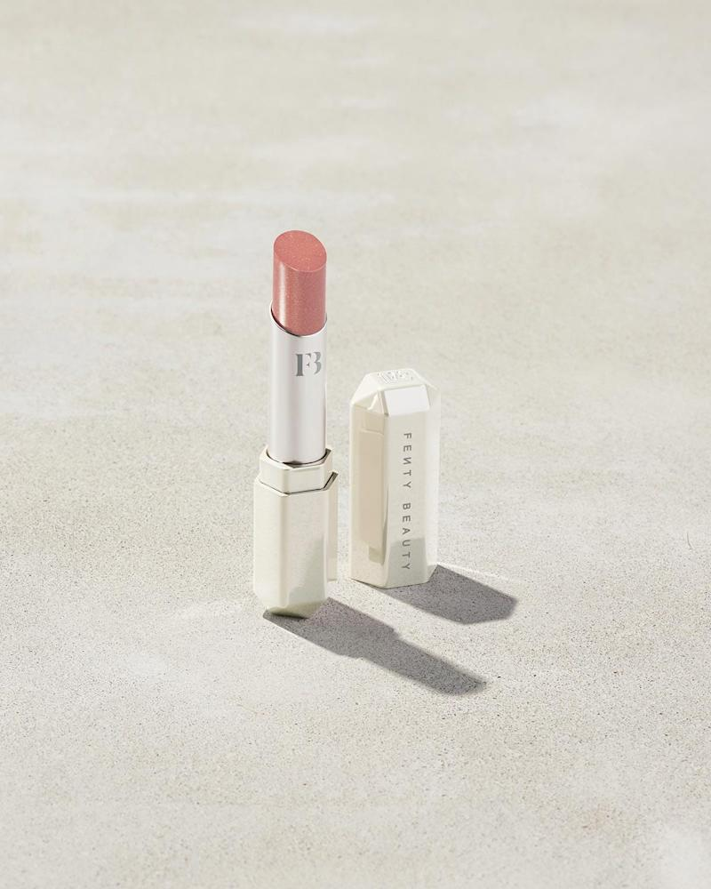 Slip Shine Sheer Shiny Lipstick in Makeout Break. Image via Fenty Beauty.