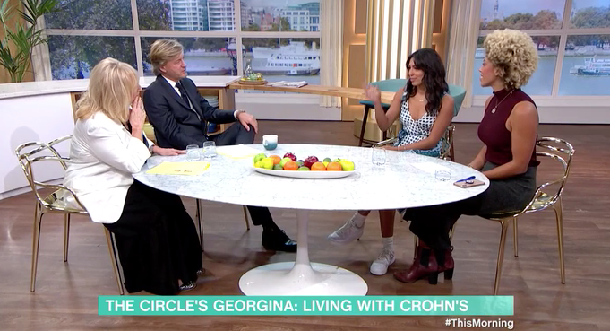 Richard Madeley was reunited with Georgina Elliot on This Morning. (ITV)