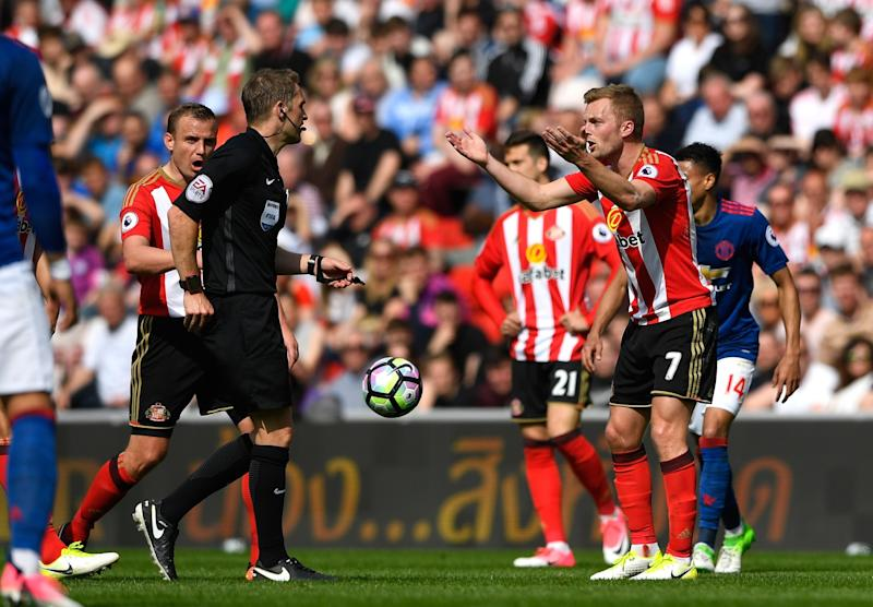 What did I do? Sebastian Larsson protests his innocence