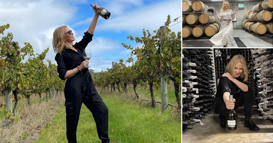 Kylie launched her own wine label in 2020. Photo: instagram/@kylieminogue