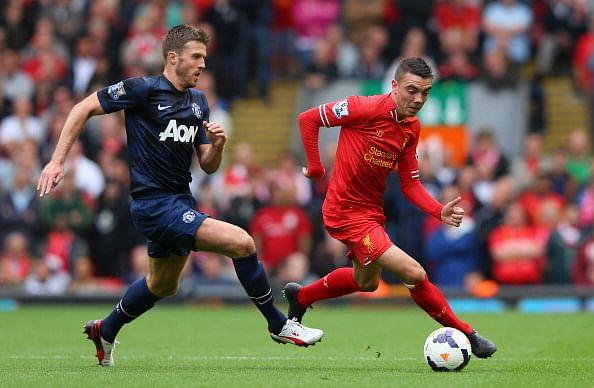 Michael Carrick and Tom Cleverley were outrun in midfield by their opposite numbers from Liverpool (Getty Images)