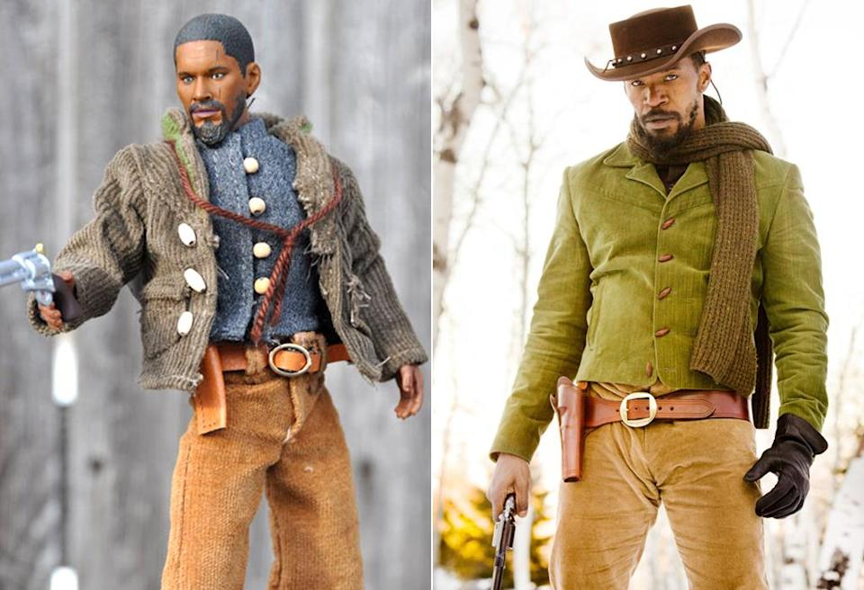 <p>This anonymous-looking fellow is, we kid you not, Jamie Foxx from 'Django Unchained.' (Photo: Everett/NECA)</p>