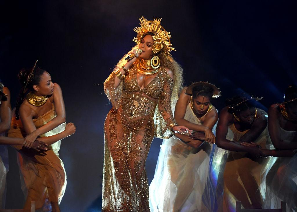 "<p>Beyonce sings two songs off her 2016 album Lemonade, ""Love Drought"" and ""Sandcastles,"" in what was her first public appearance since announcing that she was pregnant with twins. </p>"