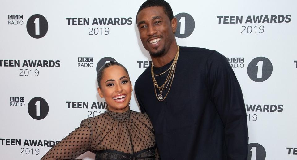LONDON, ENGLAND - NOVEMBER 24: Amber Gill and Ovie Soko attend BBC Radio 1's Teen Awards 2019 on November 24, 2019 in London, United Kingdom. (Photo by Jo Hale/Redferns)