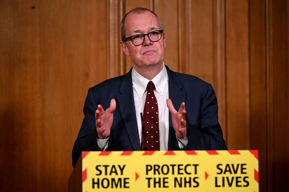 Chief scientific adviser Sir Patrick Vallance during a media briefing in Downing Street, London, on coronavirus (COVID-19). Picture date: Friday January 22, 2021. (Photo by Leon Neal/PA Images via Getty Images)