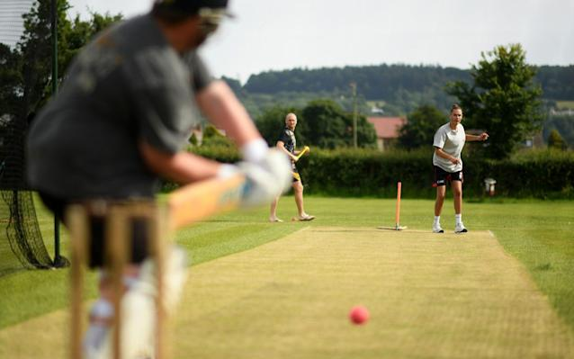 Blagdon Hill Cricket Club in the nets in the hope the Government will u-turn on its decision - GETTY IMAGES