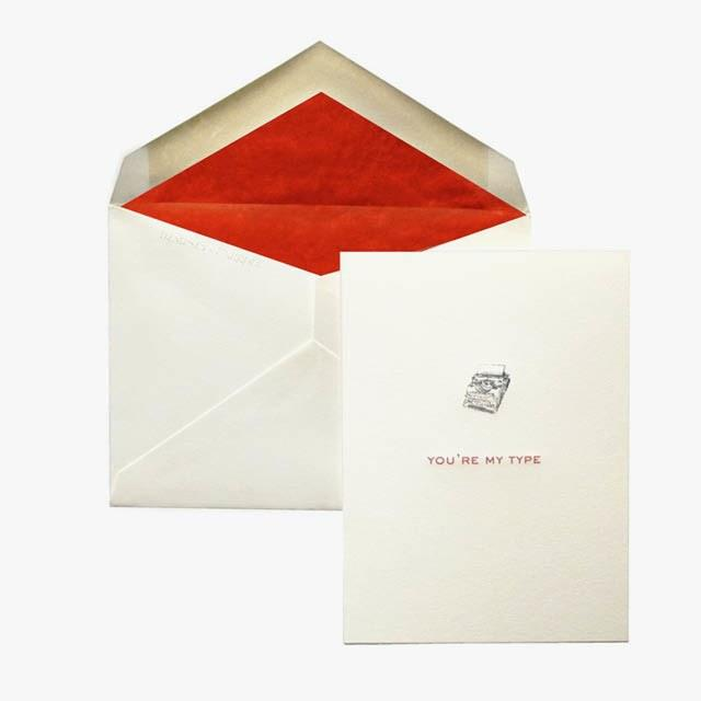 Typewriter Love Note, $65 for a set of 10, dempseyandcarroll.com