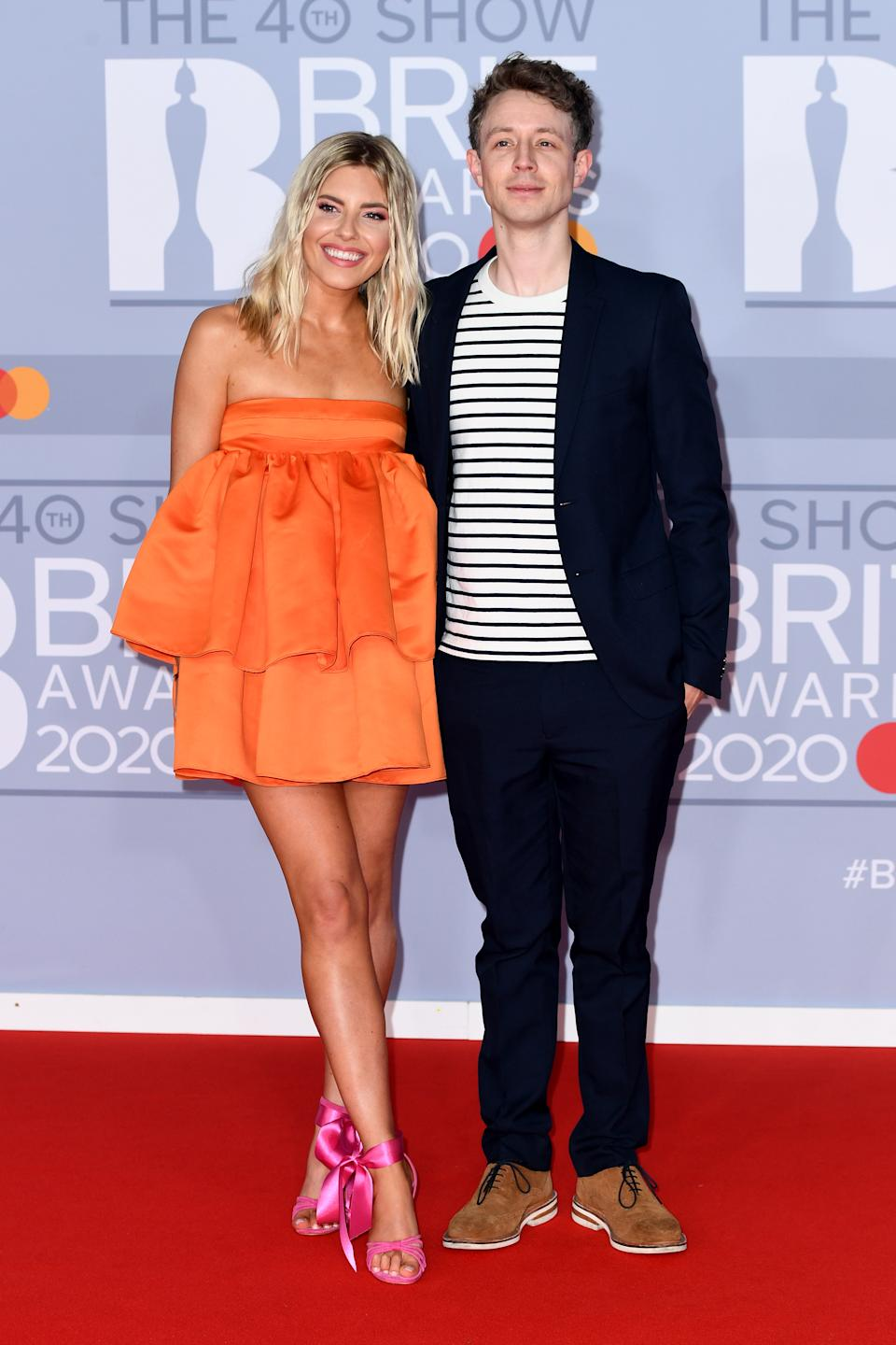LONDON, ENGLAND - FEBRUARY 18: (EDITORIAL USE ONLY) Mollie King and Matt Edmondson attends The BRIT Awards 2020 at The O2 Arena on February 18, 2020 in London, England. (Photo by Gareth Cattermole/Getty Images)