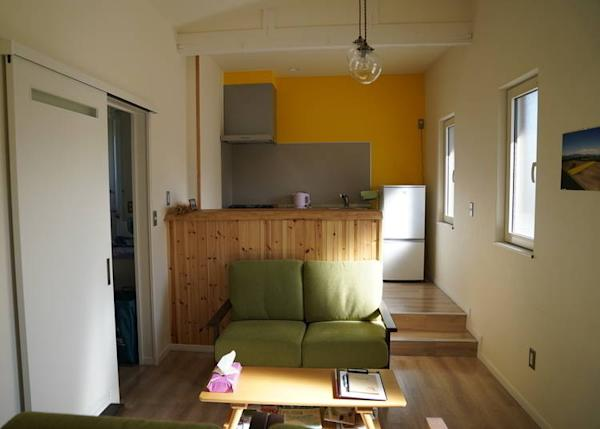 The interior of Guesthouse Biei