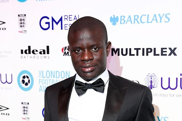 Gong: N'Golo Kante was named Premier League Player of the Year at the 2017 London Football Awards: John Phillips/Getty Images