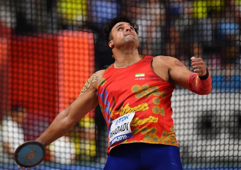 Athletics: Iran Olympic discus trailblazer Hadadi has coronavirus