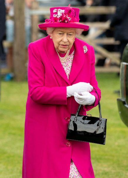 PHOTO: Queen Elizabeth II attends The Royal Windsor Cup Final at Guards Polo Club on June 23, 2019 in Egham, England. (Mark Cuthbert/UK Press via Getty Images)