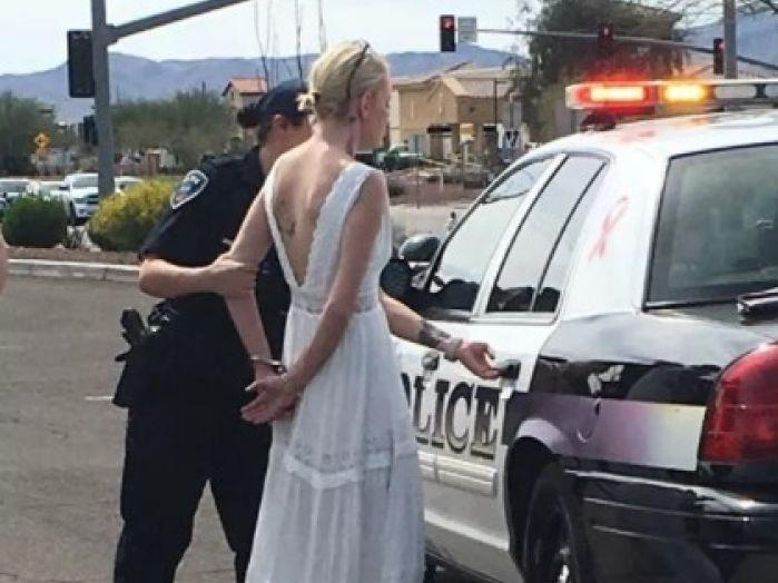 It is not clear whether the bride ever made it to her big wedding day: Marana Police Department