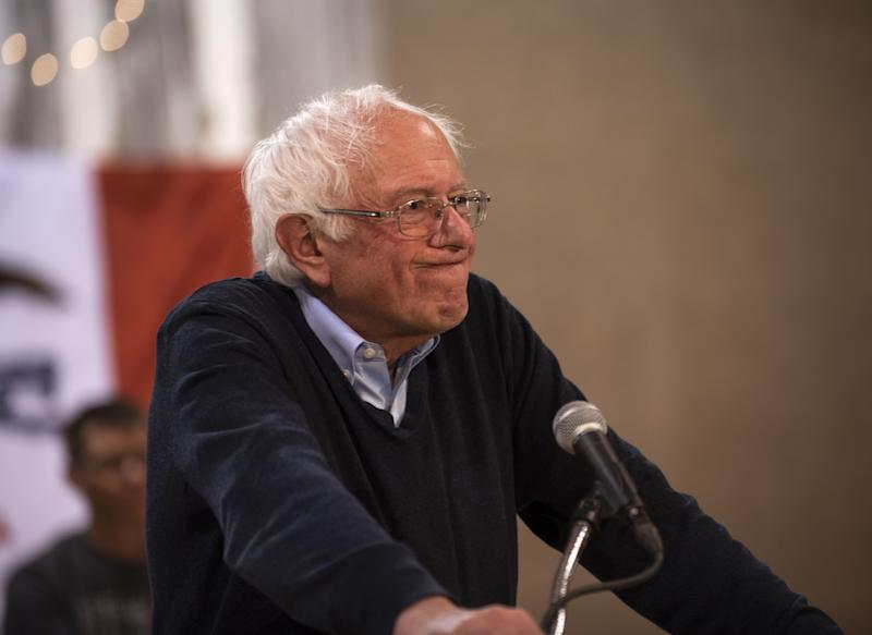 Democratic presidential candidate Sen. Bernie Sanders (I-VT) speaks during a town hall at the Fort Museum on May 4, 2019 in Fort Dodge, Iowa.