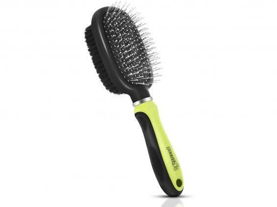 Pet hair can matte and make a mess of your floor, so use this double-sided brush to stay on top of it (Amazon)
