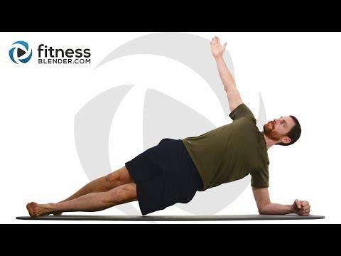 """<p>Focus on not just your abs but also lower back and obliques in this core-strengthening workout. Instructor Daniel will guide you through the moves, starting with a warm-up and then working through four groups of two exercises. You can grab dumbbells if you have them, but you don't need any equipment to complete the circuit. There's no background music in this video, so feel free to play your own tunes, too. </p><p><a href=""""https://www.youtube.com/watch?v=N5ViYeGJOCA"""" rel=""""nofollow noopener"""" target=""""_blank"""" data-ylk=""""slk:See the original post on Youtube"""" class=""""link rapid-noclick-resp"""">See the original post on Youtube</a></p>"""