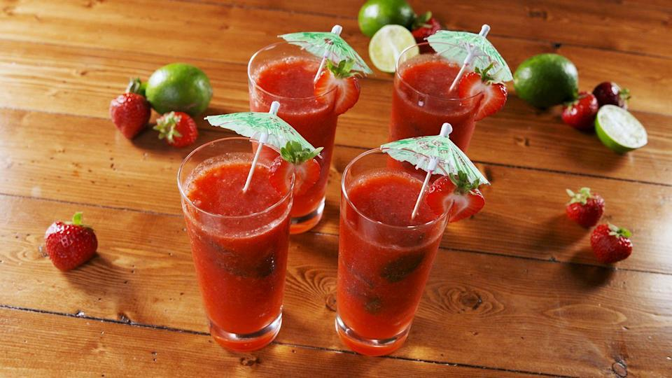 """<p>Refreshing AF.</p><p>Get the recipe from <a href=""""https://www.delish.com/cooking/recipe-ideas/a22217757/frozen-strawberry-mojitos-recipe/"""" rel=""""nofollow noopener"""" target=""""_blank"""" data-ylk=""""slk:Delish"""" class=""""link rapid-noclick-resp"""">Delish</a>.</p>"""