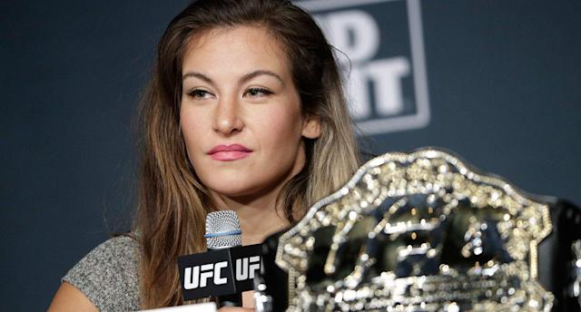 Former UFC star Miesha Tate posts a pregnancy update. (AP)