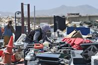 The US withdrawal from Bagram has resulted in a booming scrap business