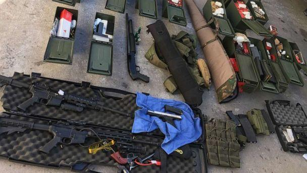 PHOTO: A 37-year-old man was arrested after police found a weapons cache at his California home. The suspect, police said, had earlier threatened coworkers and guests at the hotel where he worked. (Long Beach Police Department)